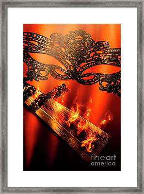 Masquerade Of Passion Framed Print