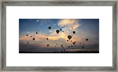 Mass Ascension Pano Framed Print by Rick Mosher
