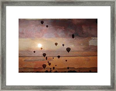 Mass Ascension Framed Print by Rick Mosher