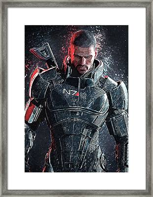 Mass Effect Framed Print by Taylan Apukovska