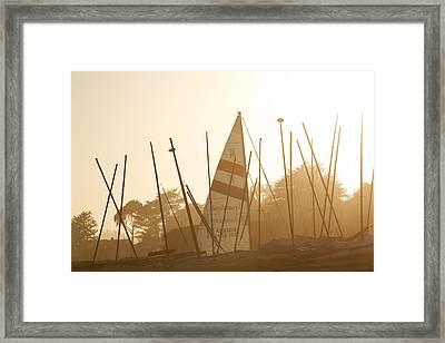 Mass Of Ships Framed Print by Marilyn Hunt
