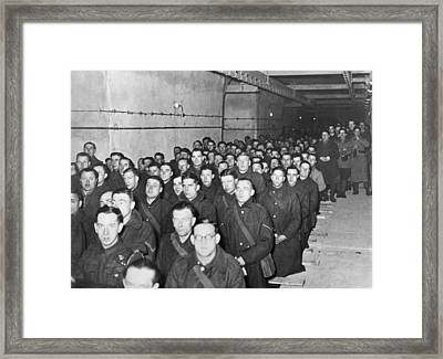 Mass On The Maginot Line Framed Print by Underwood Archives