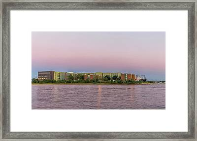 Massachusetts Maritime Academy At Sunset Framed Print