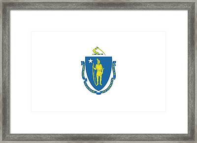 Massachusetts State Flag Framed Print by American School