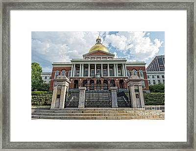 Massachusetts State House Framed Print by Charles Dobbs