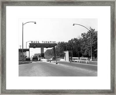 Massachusetts Turnpike Framed Print by Underwood Archives