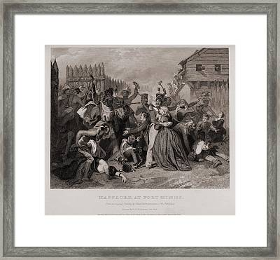 Massacre At Fort Minns. On August 30 Framed Print by Everett