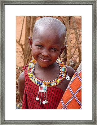 Massai Child Framed Print