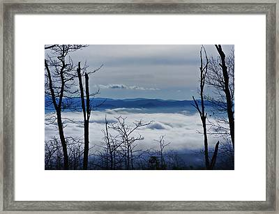 Framed Print featuring the photograph Massanutten Foggy Top 1 by Lara Ellis