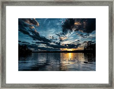Masscupic Lake Sunset Framed Print