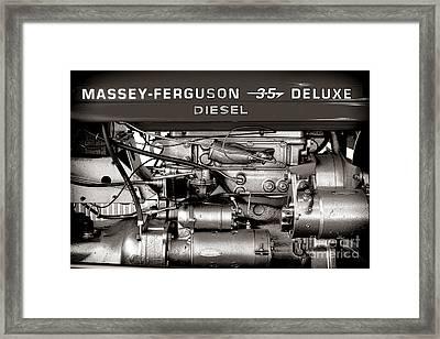 Massey Ferguson 35 Deluxe  Framed Print by Olivier Le Queinec