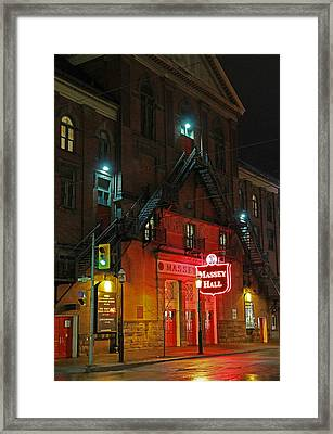Massey Hall  Framed Print