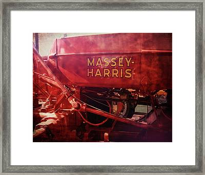 Massey Harris Vintage Tractor Framed Print by Ann Powell