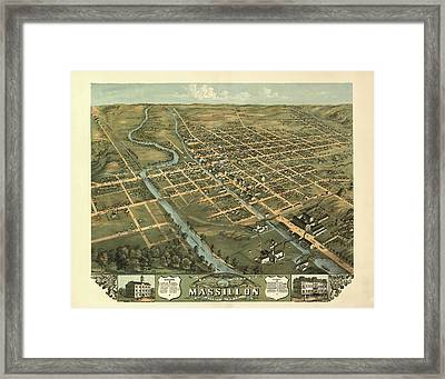 Massillon Ohio 1870 Framed Print