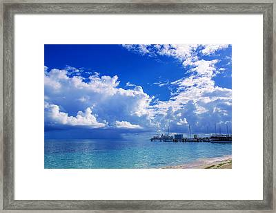 Massive Caribbean Clouds Framed Print
