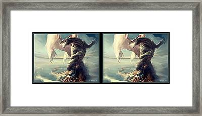 Massive Dragon - Gently Cross Your Eyes And Focus On The Middle Image Framed Print by Brian Wallace