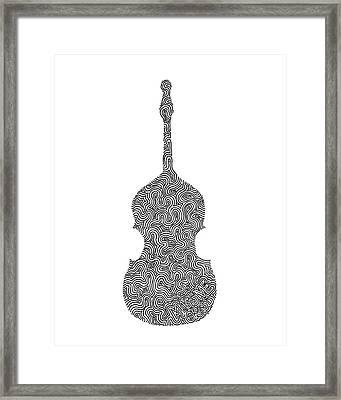 Massive Grass - Upright Bass Framed Print by A Mad Doodler