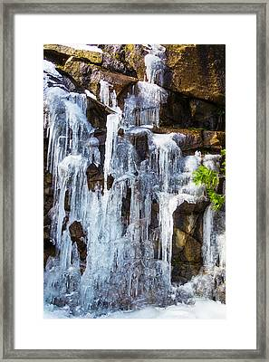 Massive Icicles Framed Print by Garry Gay