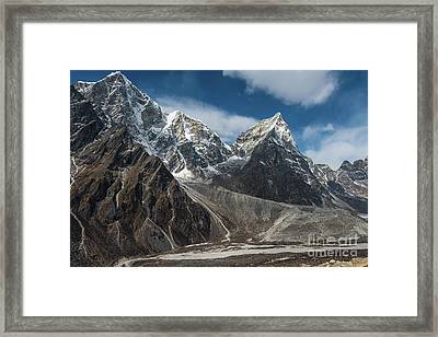 Framed Print featuring the photograph Massive Tabuche Peak Nepal by Mike Reid