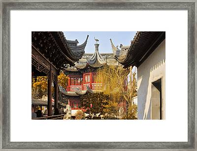 Massive Upturned Eaves - Yuyuan Garden Shanghai China Framed Print