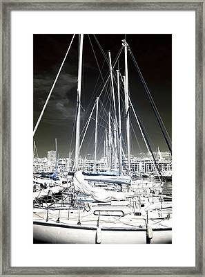 Mast Angles Framed Print by John Rizzuto