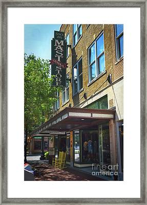 Framed Print featuring the photograph Mast General by Skip Willits