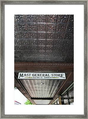 Framed Print featuring the photograph Mast General Store II by Skip Willits
