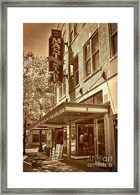 Framed Print featuring the photograph Mast General Store by Skip Willits