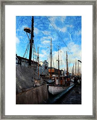 Mast Impressions Copehagen Framed Print by Dorothy Berry-Lound