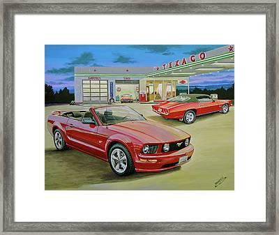Mast Mustang Framed Print by Branden Hochstetler