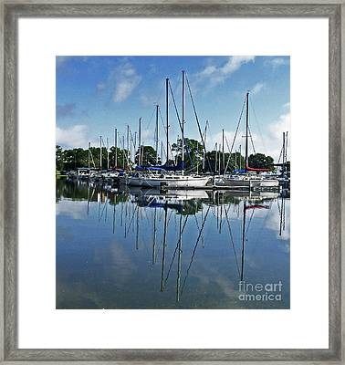 Mast Reflections Framed Print by Susan E Robertson