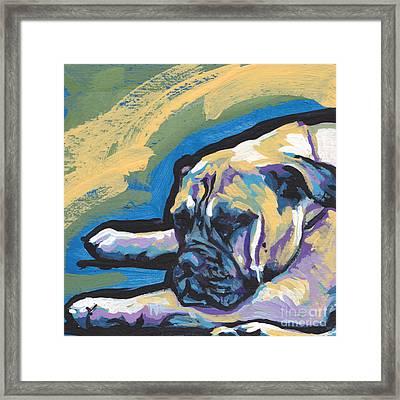 Masta Bull Framed Print by Lea S