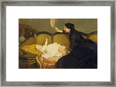 Master Baby  Framed Print by William Quiller Orchardson