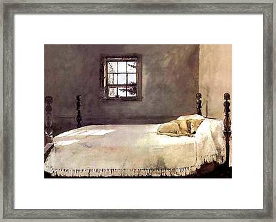 Framed Print featuring the painting Master Bedroom  by Andrew Wyeth