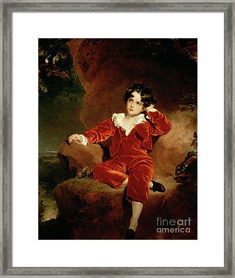 Master Charles William Lambton Framed Print