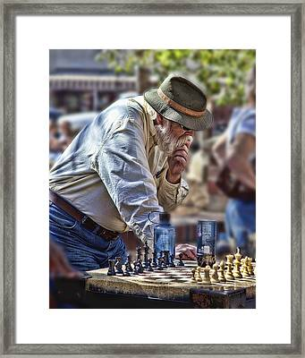 Master Chess Player Framed Print