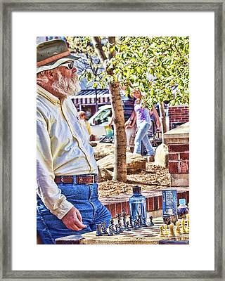 Master Chess Player II Framed Print