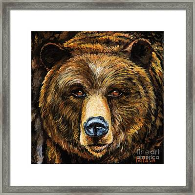 Framed Print featuring the painting Master by Igor Postash