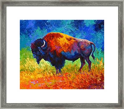 Master Of His Herd Framed Print by Marion Rose