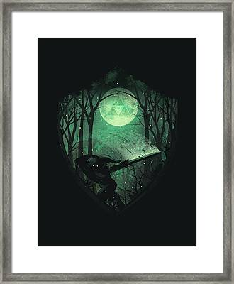 Master Sword Framed Print by Dan Elijah Fajardo