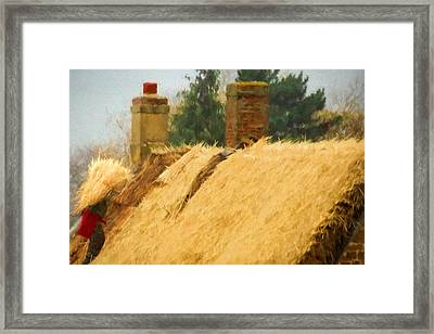 Master Thatcher. Framed Print by ShabbyChic fine art Photography