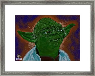 Master Yoda Framed Print by Joseph Burke