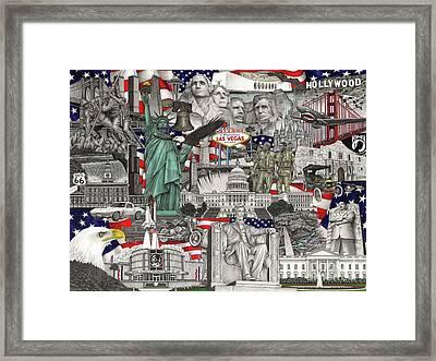 Masterpiece America Framed Print