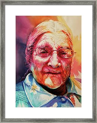 Framed Print featuring the painting Windows To The Soul by J- J- Espinoza