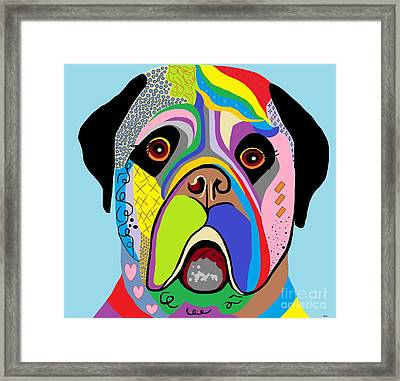 Mastiff Framed Print by Eloise Schneider