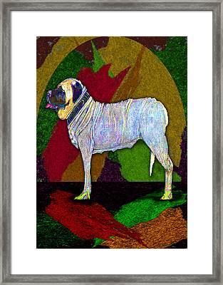 Mastiffically Colorful Framed Print