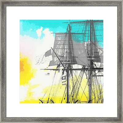Masts And Sails 2 Framed Print by Brandi Fitzgerald