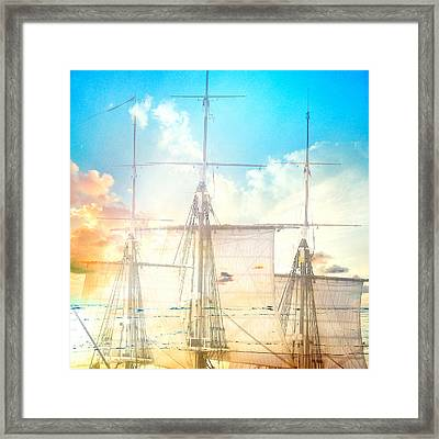 Masts And Sails 3 Framed Print by Brandi Fitzgerald