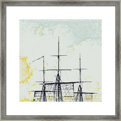 Masts And Sails Framed Print by Brandi Fitzgerald