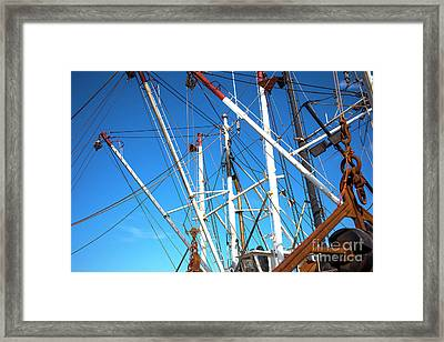 Framed Print featuring the photograph Masts At Barnegat Bay by John Rizzuto